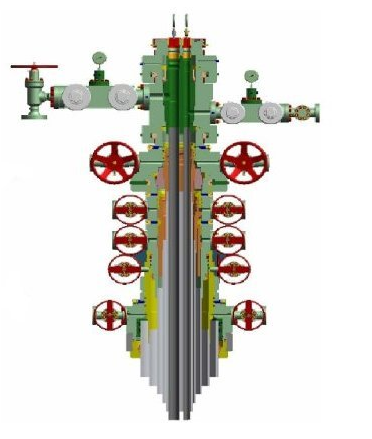 Conventional Wellhead & x-mas tree 5000 psi w.p.