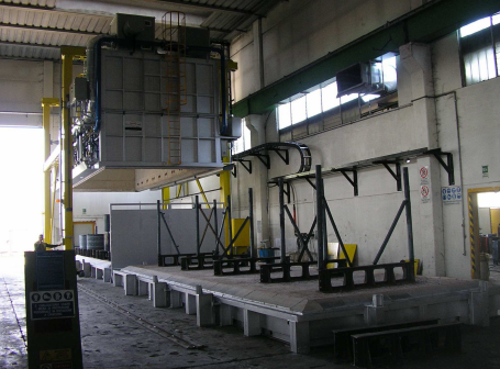 Bell Furnace with two Bases for Heat Treatment