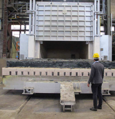 Bogie Hearth Furnace for forging with regenerative burners